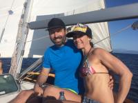 "Me and Sam getting our ""sail"" on..."